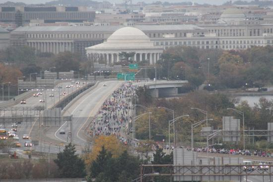 DoubleTree by Hilton - Washington DC - Crystal City: Marine Corps Marathon from our room