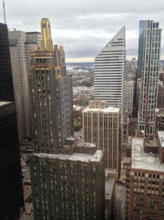 Club Quarters Hotel, Wacker at Michigan: views from room 3901