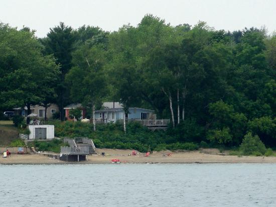A1 Cottage Rentals: Cottage property as seen from Lake Huron