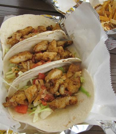Big Owl's Tiki bar: Fish Tacos