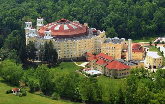 West Baden Springs Hotel: Professional aerial photo of West Baden