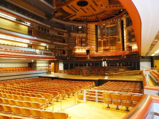 Symphony Hall: Inside the hall looking to the stage