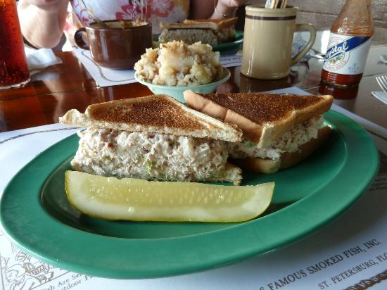 Smoked fish sandwich picture of ted peters famous smoked for Ted peters smoked fish