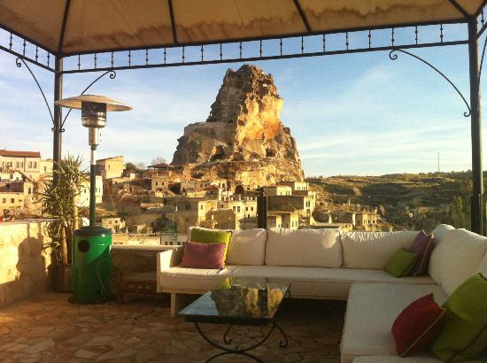 Hezen Cave Hotel : The view from the Terrace