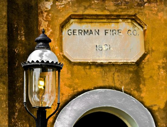 Charleston History Tours: The German Fire Station is right next to the Slave Mart.