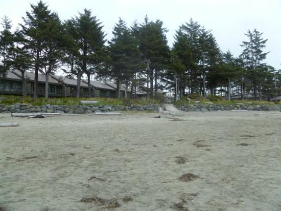 Pacific Sands Beach Resort : View of Pacific Sands Resort from the beach