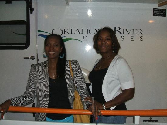 Oklahoma River Cruises 2 Of The Anderson Girls Posing On OK Cruise