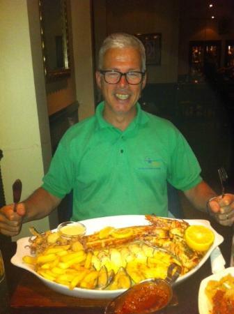 Margaritas Seafood & Steaks: Seafood Platter: voor wie niet kan kiezen en lunch overslaat...