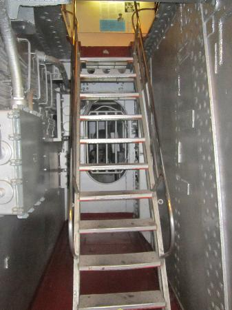 Battleship NORTH CAROLINA: One of the many sets of stairs