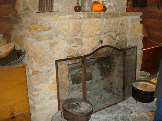 Ward Meade Park: Hearth were food was warmed or cooked