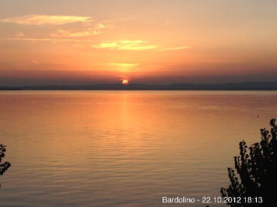 Hotel du Lac et Bellevue: Herrlicher Sonnenuntergang