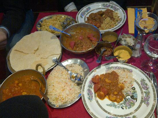 Aladin Brick Lane: our dinner!