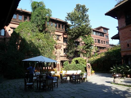 Dwarika's Hotel: Hotel from internal courtyard