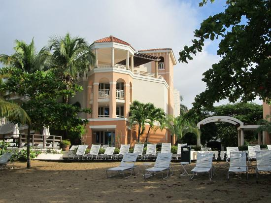 Rincon Beach Resort: View of hotel from beach.