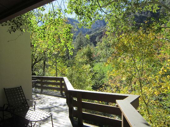 Junipine Resort: View from wrap-around porch