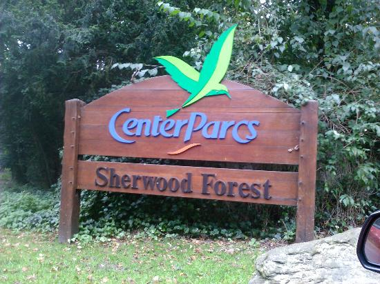 Sign at the entrance  Picture of Center Parcs Sherwood Forest