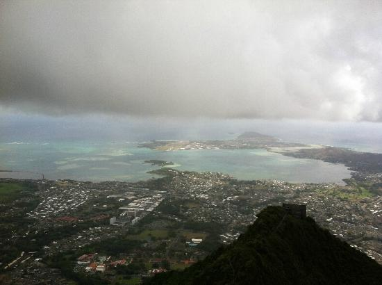 Tripler Ridge: Top of ridge overlooking Kaneohe