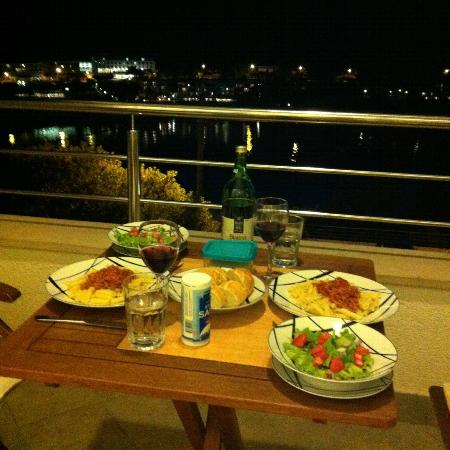Villa Katarina: Dinner on our terrace
