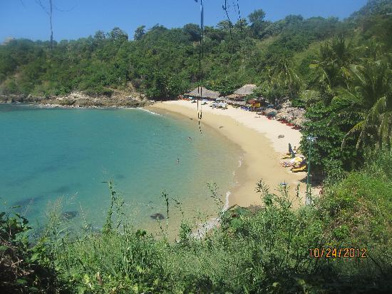 Villas Carrizalillo : Beach view from hotel