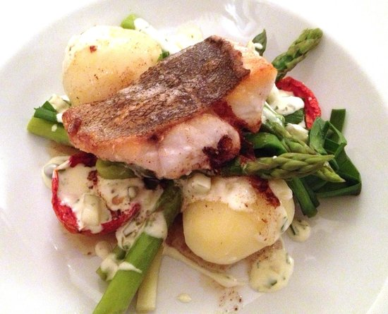 South Cafe: Fillet of Rock Bass.