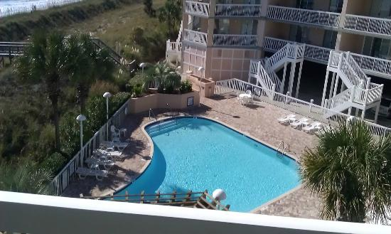 Litchfield Beach & Golf Resort: king room side of balcony (not master suite)