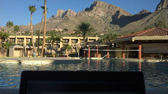 Doubletree by Hilton Tucson - Reid Park: Laptop at the pool