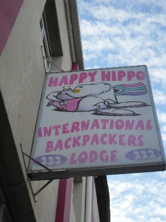 Happy Hippo Accommodation : Welcome sign