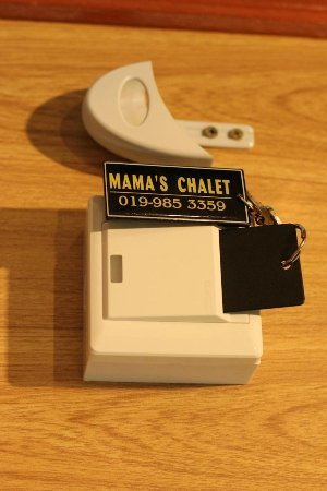 Mama's Place: key card for electricity hours