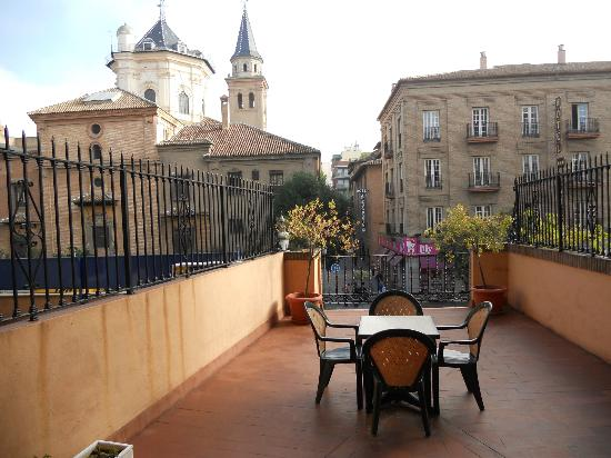 Hotel Las Almenas: our terrace and view