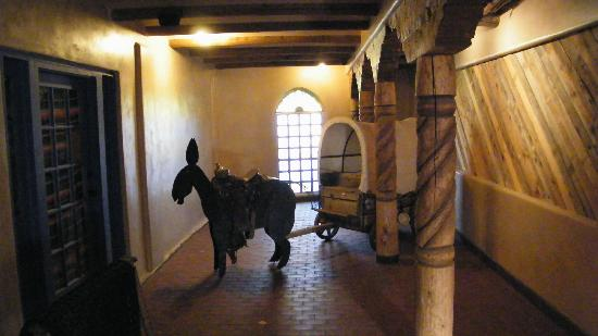 La Posta de Mesilla: burro and cart in hallway
