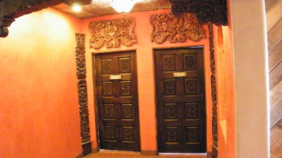 La Posta de Mesilla: beautiful new bathroom doors... the tile inside was just as beautiful