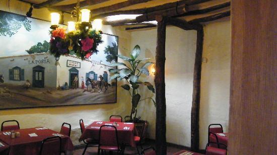 La Posta de Mesilla: wall painting of La Posta