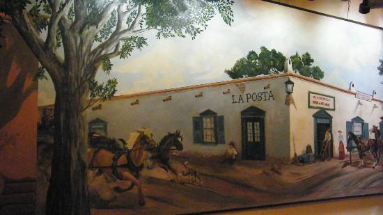 La Posta de Mesilla: painting of La Posta in the olde days
