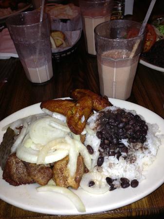 Versailles Cuban Restaurant: chunks of pork, versailles, los angeles, ca