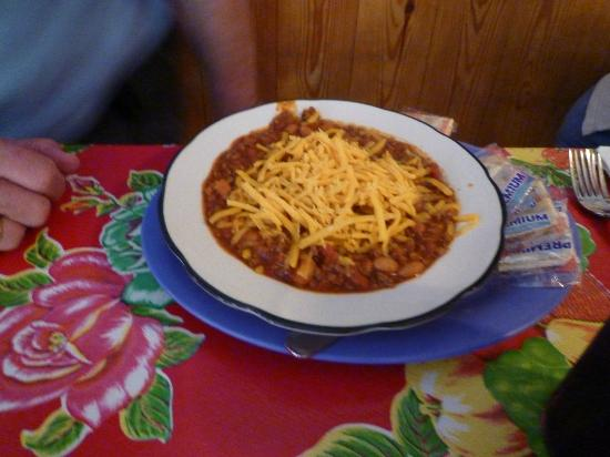 Bubba's Barbecue: A bowl of Bubba's chili -- cup size serving also available