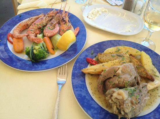 Skala Restaurant: Jumbo shrimp and lamb