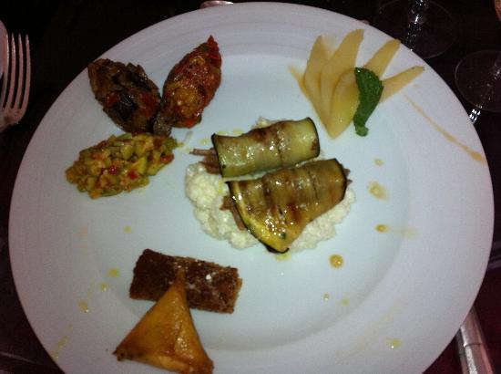 Villa Flore : Assiette 8 saveurs du marché... Exquis