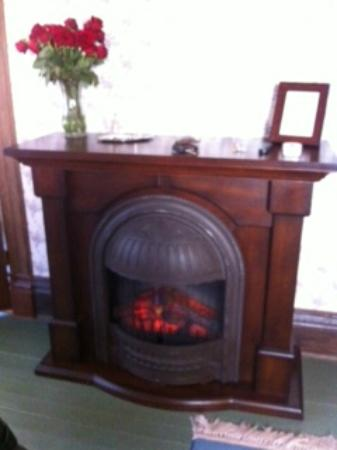 Swantown Inn & Spa: fireplace