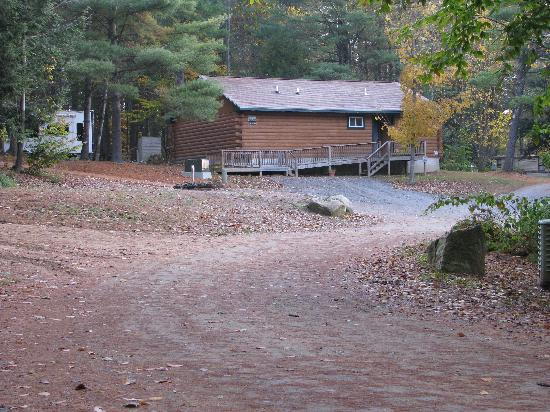 Whispering Pines Campsites: bathhouse from the accessible campsite