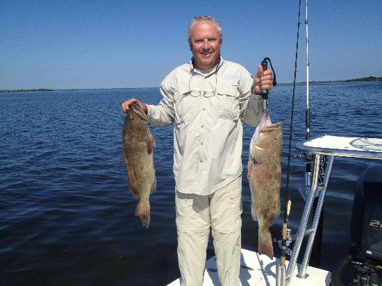 Tarpoons Private Charters : Grouper in the Pass