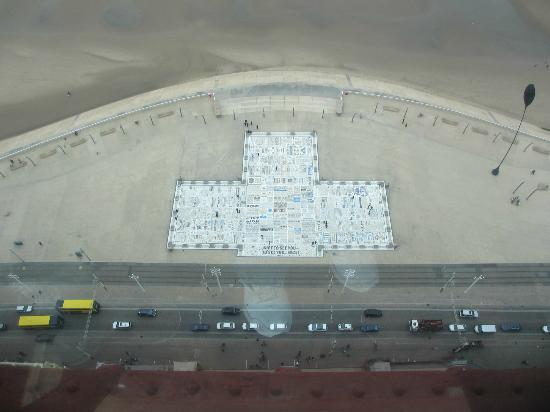 The Blackpool Tower: View of The Comedy Carpet from the Top of The Tower!