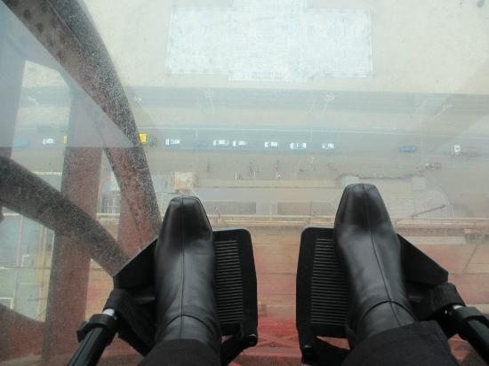 The Blackpool Tower: My Wife was in her Wheelchair looking down at The Comedy Carpet from the Top of The Tower!