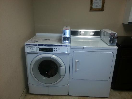 Best Western Plus Meridian Inn & Suites, Anaheim-Orange: Washer/Dryer on ground floor.