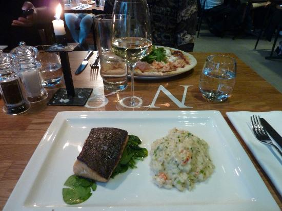 Solo Sokos Hotel Paviljonki: Salmon and crayfish risotto at the Italian restaurant downstairs, highly recommended!