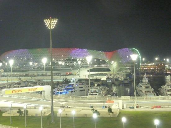 End of the F1 Race at Yas Marina Circuit