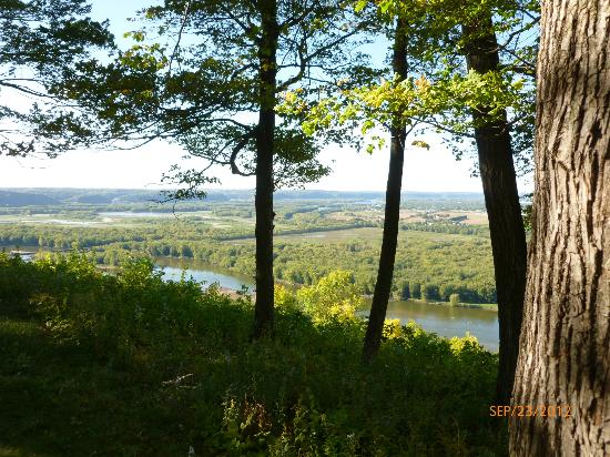 Wyalusing State Park: View from our campsite