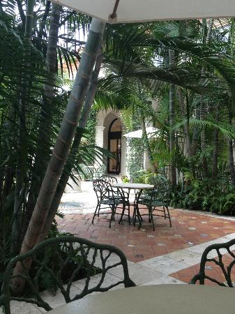 The Breakers: Patio is perfect spot for coffee and relaxing.