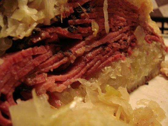 Route 58 Delicatessen: Close-up of Pastrami Reuben