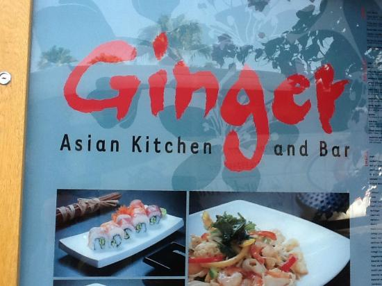 Ginger Asian Kitchen and Bar : Outside the Resto