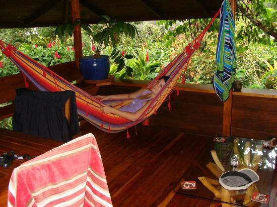 Hotel Banana Azul : Loved to hang in the hammock